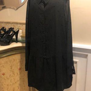 Frenchi sheer black blouse